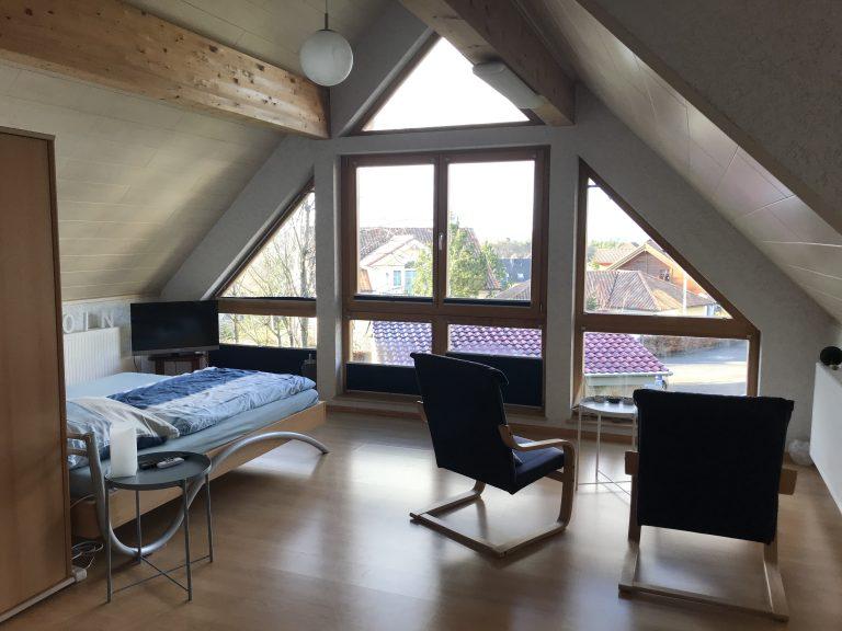 Schlafzimmer 1 OG mit Panorama